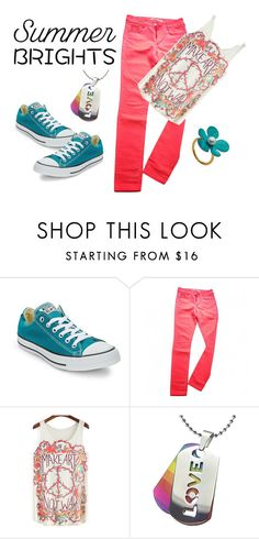 """Summer Brights"" by freckled-gypsy on Polyvore featuring Converse, Comptoir Des Cotonniers and summerbrights"