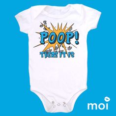 Whoop! There it is!... Poop. *We carry this item in various sizes! Visit our shop for more great selections! (baby, onesie, cute, funny, bodysuit, infant, newborn, clothing, saying, gift)