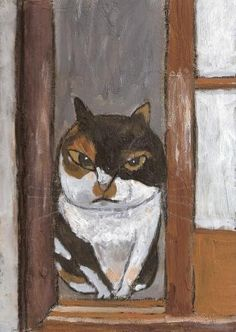 Cat Portraits by Tetsuo Takahara Art And Illustration, Cat Illustrations, Japanese Cat, Illustrator, Photo Chat, Animal Paintings, Indian Paintings, Abstract Paintings, Art Paintings