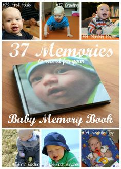 37 Memories to Record for Baby's First Year {Baby Memory Book Checklist} |GrowingSlower