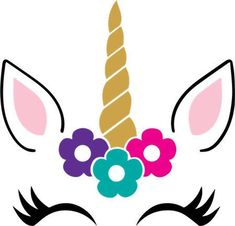 Unicorn face SVG file for your personal cutting machine. Unicorn face SVG file for your personal cutting machine. Unicorn Themed Birthday, Unicorn Party, Unicorn Balloon, 5th Birthday, Unicorn Head, Cute Unicorn, Unicorn Pictures, Unicorn Crafts, Glitter Vinyl