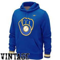 Nike Milwaukee Brewers Cooperstown Hoodie - Royal Blue