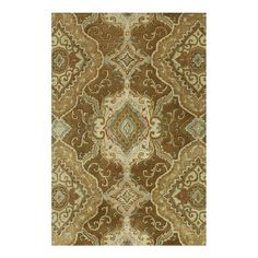 Handmade wool-blend rug with diamond damask motif.   Product: RugConstruction Material: Wool and viscoseCo...