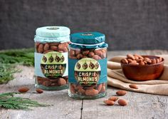 Crispie Almonds recipe #homemade #snack #recipe #gift #labels