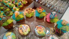 mini cupcakes decorados - tema a guarda do leão