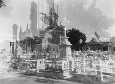 "Gothic cemetery ""Necropolis,"" Havana CUBA / Double exposure Holga photo /  BW Photo by StudioGauthier, $19"