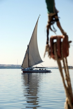 Felucca Sailing the Nile by p medved, via Flickr