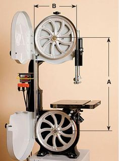 How do you figure the length for a bandsaw that doesn't have a blade to measure from? Diy Bandsaw, Woodworking Bandsaw, Bandsaw Projects, Bandsaw Mill, Woodworking Skills, Woodworking Shop, Metal Working Tools, Old Tools, Wood Mill