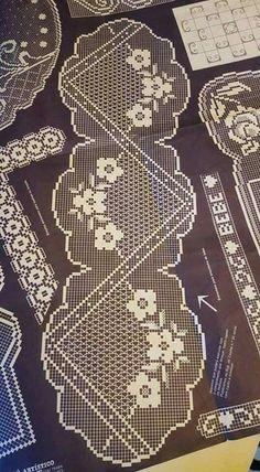 HUZUR SOKAĞI (Yaşamaya Değer Hobiler Quick Crochet, Unique Crochet, Crochet Art, Thread Crochet, Irish Crochet, Crochet Stitches, Crochet Table Runner, Crochet Tablecloth, Crochet Doilies