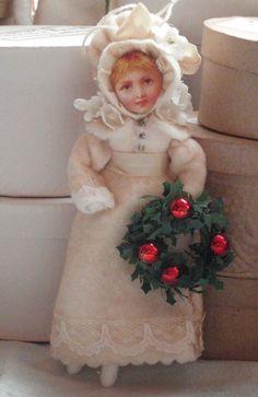 Victorian style bonnet girl ornament