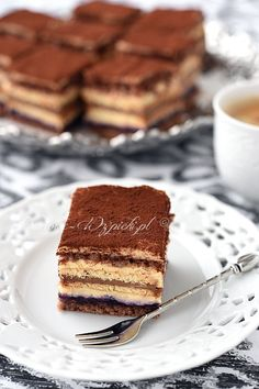 Ciasto krówkowo- kakaowe Good Food, Yummy Food, Russian Recipes, Food Cakes, Cakes And More, Tiramisu, Ale, Cake Recipes, Sweet Tooth