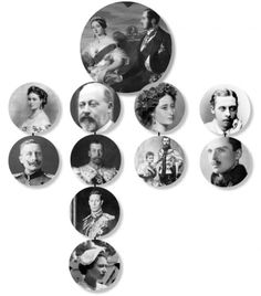 Family tree of the British Royal Family descended from Queen Victoria