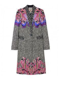 Printed coat by Etro - gorgeous! Designer Coats for Women 2012 - Trendy Womens Coats - ELLE