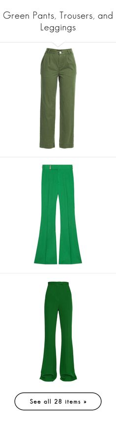 """Green Pants, Trousers, and Leggings"" by melzy ❤ liked on Polyvore featuring GREEN, trousers, pants, Leggings, slacks, pants/jeans, green, marc by marc jacobs, zipper pants and relaxed fit pants"