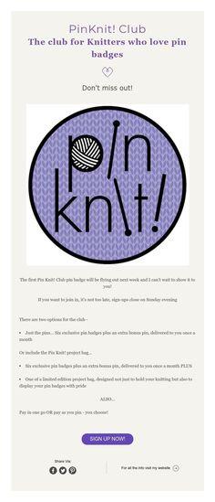 PinKnit! Pin Badge Club