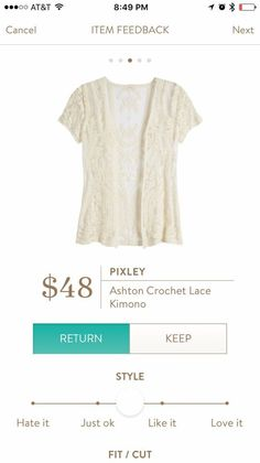 Dear Stitch Fix Stylist -- such an interesting way to add detail.  Perfect for layering