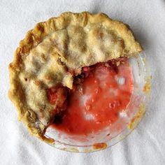 Strawberry rhubarb pie. #recipes
