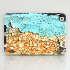 Two Faced iPad Case #photography #rust #rusty #teal #aqua #mint #turquoise #rusted #old #weathered #metal #paint #peel #pattern #shape #texture #two #ugly #dirty #vintage #steel #richcaspian #rich #caspian #ipad #case #cover #mini #ipadcase #ipadcover #minicase #minicover