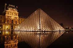 the louvre, paris, favorit place, architects, modern art, art museum, buckets, beauty, bucket lists