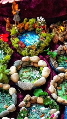 Beautiful miniature fairy garden pond for your woodland garden decor! A perfect gift for your birthday girl or valentine! Everyone loves fairy gifts to add to their fairy garden or terrarium. The pond you are purchasing is the first picture; the thumbnail. If you prefer a different pond, #GardenPond