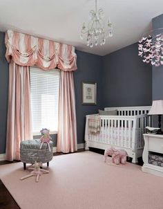 Beautiful curtains for baby Isabella
