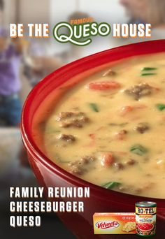 Queso dip recipe with ground beef crumbles and green onions added to cheese and zesty tomatoes for a dip never to be retired. Velveeta® and Kraft® are registered trademarks of Kraft Foods, Inc. Ro*Tel® is a registered trademark of ConAgra Foods RDM, Inc. Crockpot Recipes, Soup Recipes, Great Recipes, Cooking Recipes, Favorite Recipes, Recipies, Appetizer Recipes, Snack Recipes, Appetizers