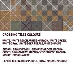 Mod The Sims - Crossing Tiles 21 Colours