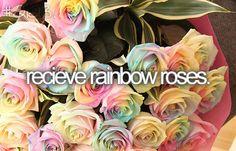 Rainbow Roses !?
