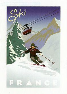 Vintage Travel Poster - France
