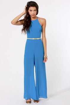 08cc4f3d079 Livin  Large Backless Blue Jumpsuit