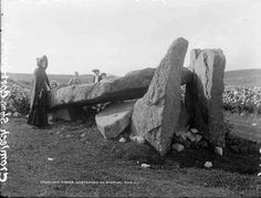 Cromlech Stone, Gortahork from the Lawrence Collection