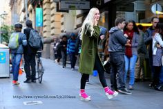 she is very lovely♥  melbourne degraves st.  melbourne street fashion