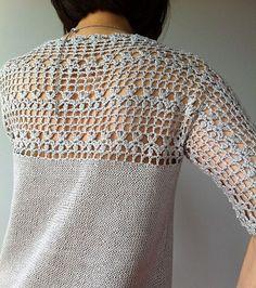 Ravelry: Julia - floral lace tunic (crochet+knit) by Vicky Chan: