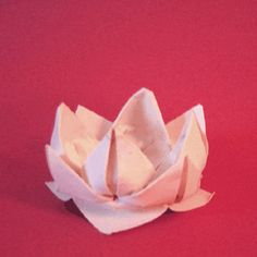 This origami lotus flower is faster, less complicated, and you only need one piece of paper