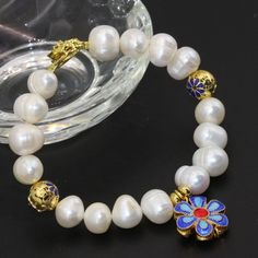 Free shipping natural white cultured freshwater 10-11mm pearl unique design clasp bracelets women elegant jewelry 7.5inch B2756