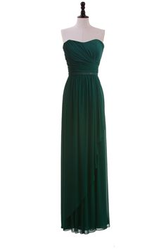 Strapless Chiffon Dress with Sequin Belt but in turquoise