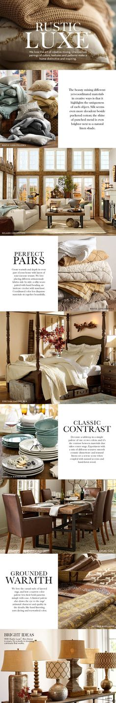 Kind of like your future living room! Rustic Luxe | Pottery Barn