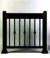 Black shade railing.