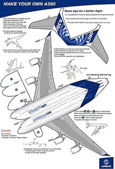 how to make a 3d airplane out of paper