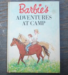 60's BARBIE Camp Adventure Children's Book Dolls Random House MATTEL Books Toys~~