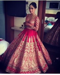 The latest collection of Bridal Lehenga designs online on Happyshappy! Find over 2000 Indian bridal lehengas and save your favourite once. Indian Bridal Outfits, Indian Bridal Lehenga, Indian Bridal Wear, Indian Dresses, Bridal Dresses, Bride Indian, Indian Groom, Indian Wear, Wedding Lehnga