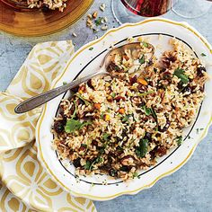 Full of flavor, serve Mixed Rice Pilaf with Dried Fruit and Nuts with your favorite grilled meat.