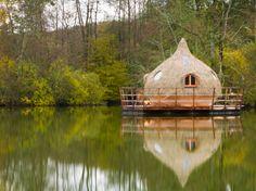 #Glamping cabane sur l'eau