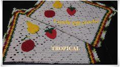 Tapete em crochê tropical para iniciantes, super fácil de executar, passo à passo completo, venha aprender comigo.