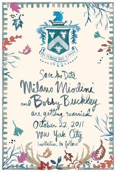 David Stark #wedding #invitation #illustration