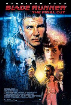 Réalisé par Ridley Scott (1982) Harrison Ford, Blade Runner Art, Blade Runner Poster, Sean Young Blade Runner, Daryl Hannah, Ridley Scott Blade Runner, Star Trek, Arte Cyberpunk, Sci Fi Films