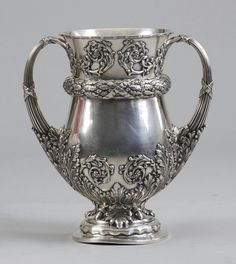 Monumental Sgn. Tiffany & Co. Makers Sterling Silver Trophy.