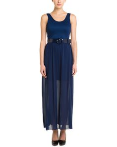 alice + olivia Kell Navy Belted Maxi Dress is on Rue. Shop it now.