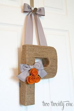 I just ordered mine!  Can't wait to see it in Black and White!!!  monogram wreath-- grey and rust $32 #monogram #wreath