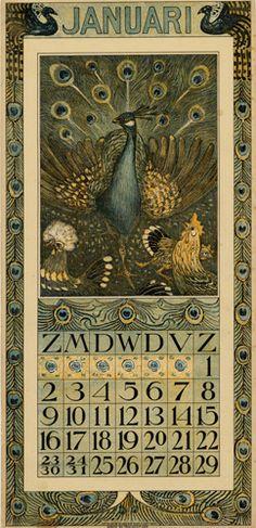 Theodoor van Hoytema, calendar 1910 January